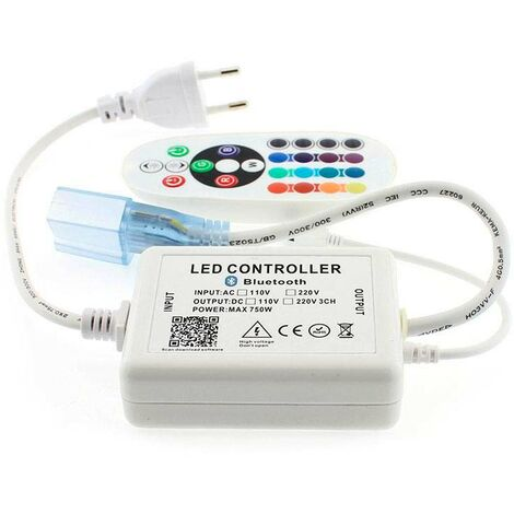 Controlador Bluetooth tira led 220V RGB 750W