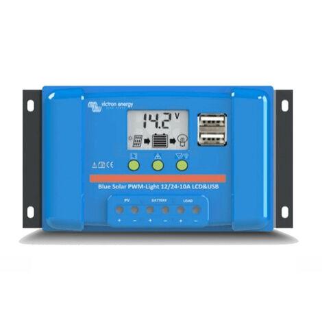 Controlador De Carga BlueSolar PWM-LCD&USB 12/24V 10A