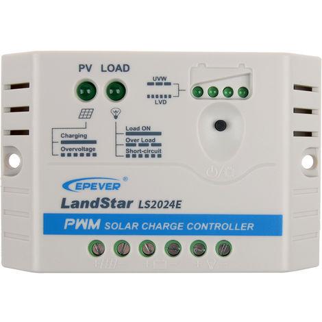 Controlador de carga solar PWM para sistema de panel solar de 12V / 24V, 20A