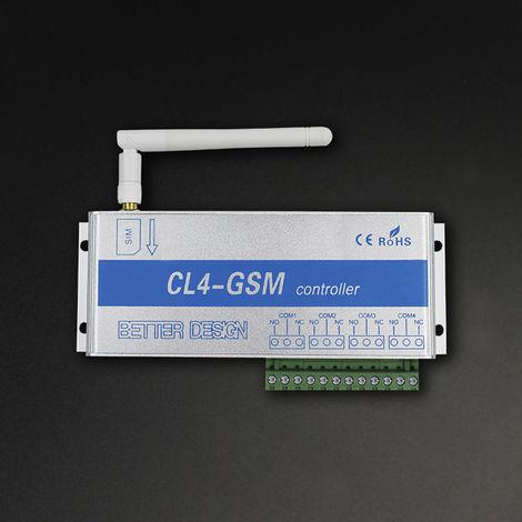Controlador de interruptor de control remoto inalambrico GSM, interruptor de rele, 4 canales