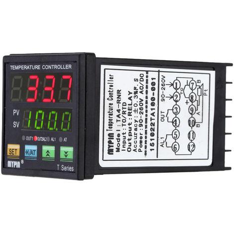 Controlador digital de temperatura PID LED, control de enfriamiento de calefaccion por termometro