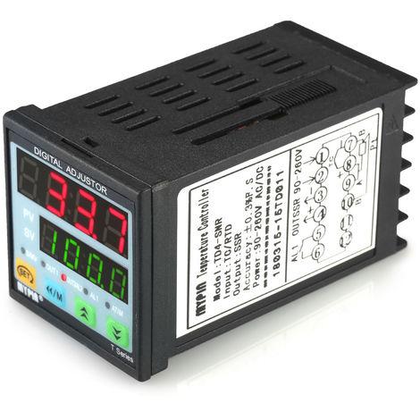 Controlador digital de temperatura PID LED, termometro SNR 1 Salida de rele de alarma