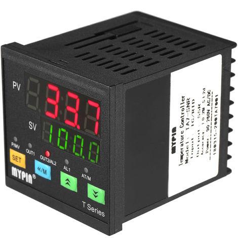 Controlador digital de temperatura PID, termometro SNR 1 Salida de rele de alarma