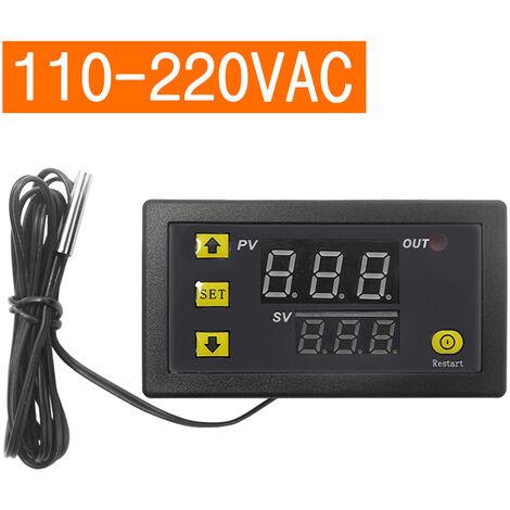 Controlador digital de temperatura, regulador de termostato, AC110V-220V 20A