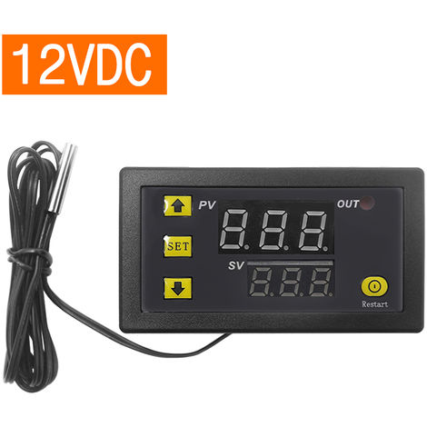 Controlador digital de temperatura, regulador de termostato, DC 12V 20A