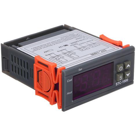 Controlador digital de temperatura, termostato de refrigeracion y calefaccion,12V