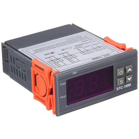 Controlador digital de temperatura, termostato de refrigeracion y calefaccion,24V
