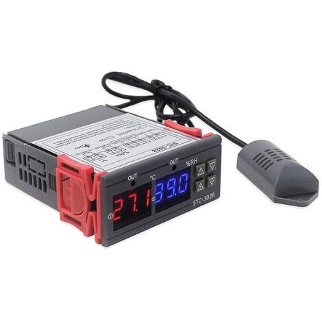 Controlador digital de temperatura y humedad Regulador Termostato Higrometro, 24V
