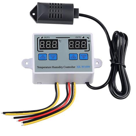 Controlador digital de temperatura y humedad, termostato de refrigerador, DC12V