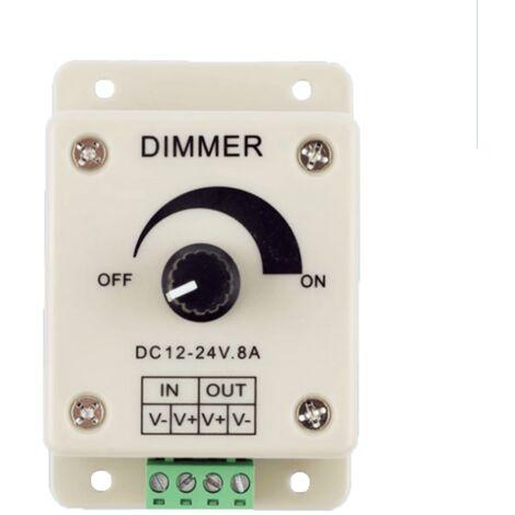 Controlador Dimmer de intensidad tira led 12v 24V 8A Blanco