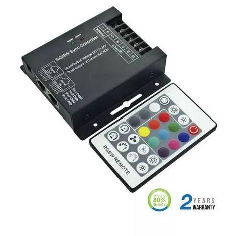 Controlador dimmer para tira LED RGB+W máx. 288/576W 6Ax4CH DC12/24V + mando RF