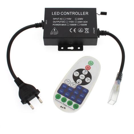 Controlador dimmer RF tira led 220V monocolor 1500W, IP65