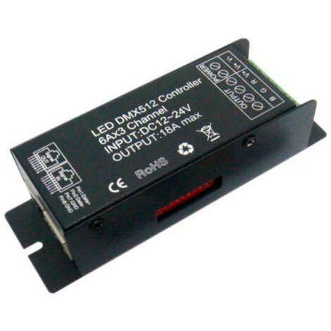 Controlador DMX para tira led RGB