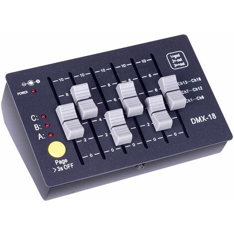 Controlador DMX512 18 Canales Recargable 5W (TB-DMX512-18)