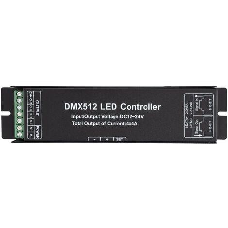 Controlador DMX512 4 Canales