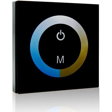 Controlador Empotrable Táctil Tira LED Duo (Blanco Frío-Cálido) 12-24VDC ► 144/288W (TB-TOUCH-MB02)