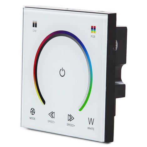 Controlador Empotrable Táctil Tira LED RGBw 12-24VDC ► 192/384W (TB-TOUCH-MB04)