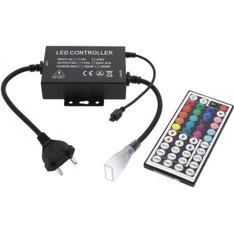 Controlador IR tira led 220V RGB 1500W, IP65