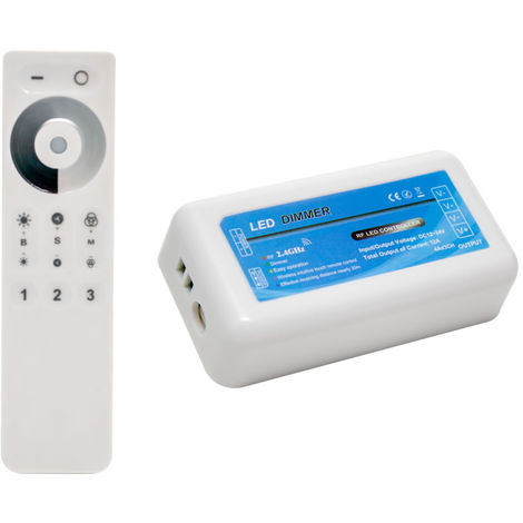 Controlador + mando monocolor 12-24v 3 zonas 2.4ghz rf