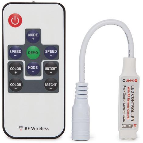 Controlador Mini Tira LED RGB 12-24VDC ► 288Wmando a Distancia (KD-MINIRGBMD)