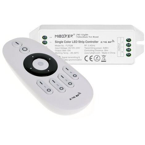 Controlador monocolor RF 4 zonas 12A + mando