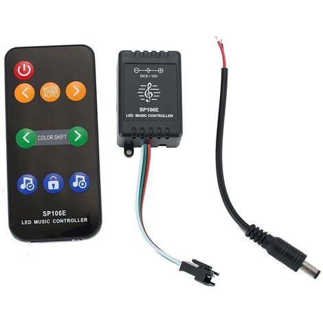 Controlador musical para Tiras LED RGB Mando con 9 Teclas WS2811/WS2812B/SK6812