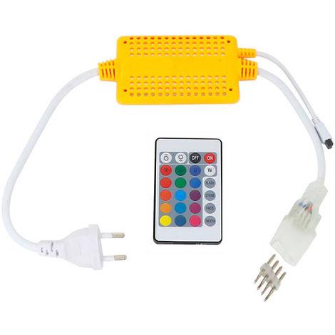 Controlador para Neón LED RGB 220V con Mando Blanco | IluminaShop