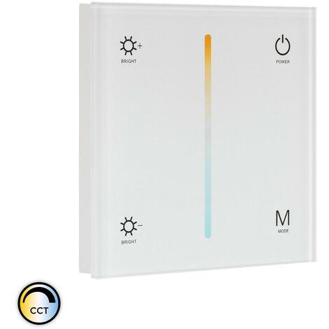 Controlador Regulador Táctil Tira LED CCT 12/24V DC compatible con Mando RF BlancoBlanco - BlancoBlanco
