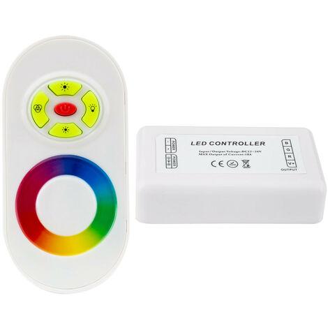 Controlador Regulador Táctil Tira LED RGB 12/24V DC con Mando RF