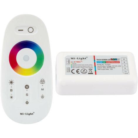 Controlador Regulador Táctil Tira LED RGBW 12/24V DC con Mando RF