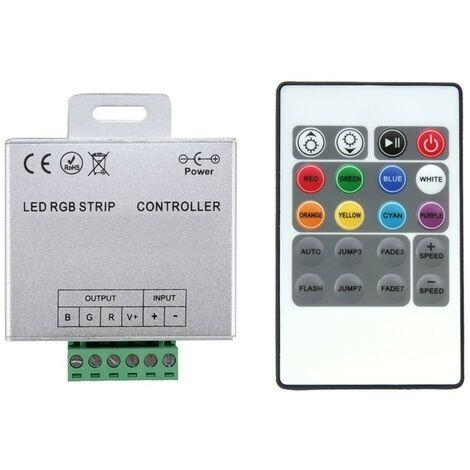 Controlador Regulador Tira LED RGB 12/24V DC con Mando RF