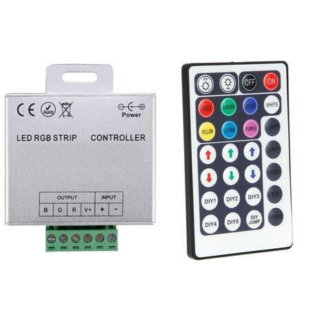 Controlador Regulador Tira LED RGB 12/24V DC con Mando RF High Power