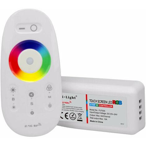 Controlador RGB 12-24Vdc 10Amp Max 2,4Ghz Con Mando