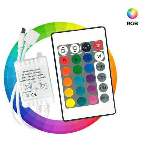 Controlador RGB 2 Amp x Canal Mando 24 teclas