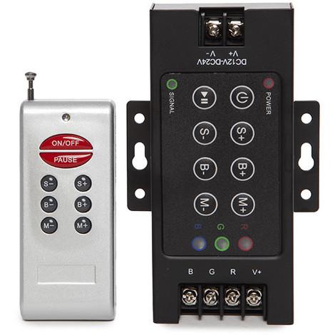 Controlador RGB Rf 24VDC ► 576W Mando a Distancia (HZ-RF24VDC-576W)