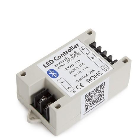 Controlador Tira LED RGB Bluetooth Smartphone 12-24VDC 400-800W (WU-BL-RGB)