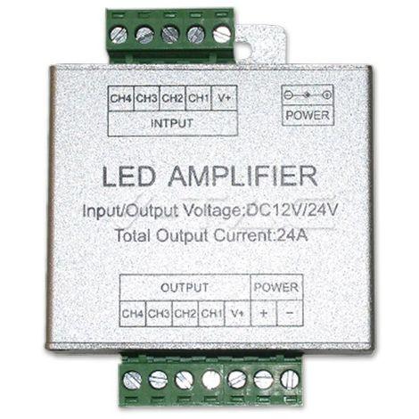Controlador Tira LED RGB+W Amplificador