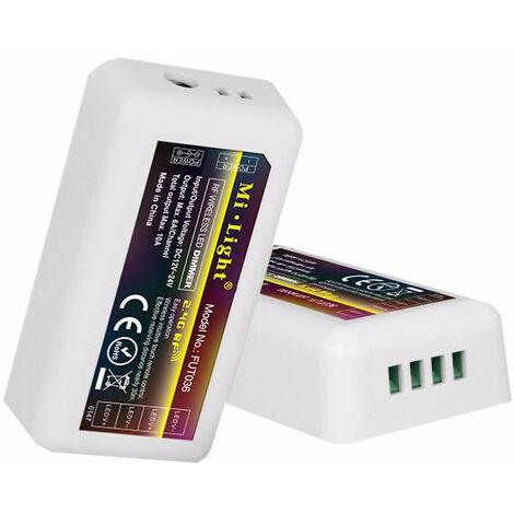 Controlador Tiras Led MonoColor 12V/24V 4Zonas 10Amax 2,4Ghz