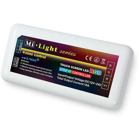 Controlador Tiras Led RGB 12V/24V 4Zonas 10Amax 2,4Ghz