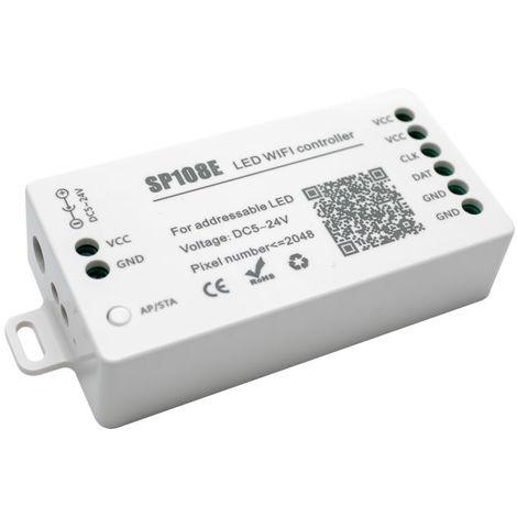 Controlador wifi para tira digital