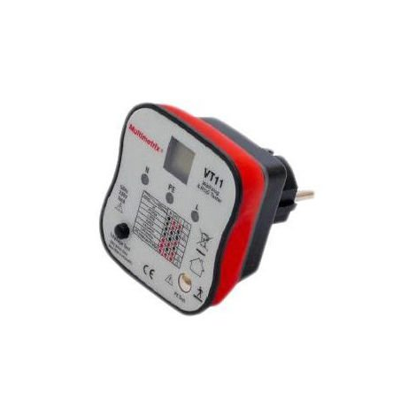 CONTROLEUR DE PRISE 2P+T  VT11 MULTIMETRIX MMXP06230304