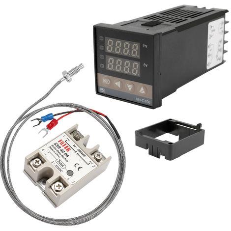 Controleur De Temperature Pid Numerique Double Rex-C100 Thermocouple Ssr-40Da