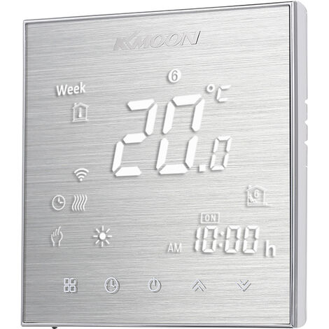 Controleur de thermostat de chaudiere a gaz KKmoon WiFi (trefilage en aluminium de chaudiere vocale WIFI serie 2000)