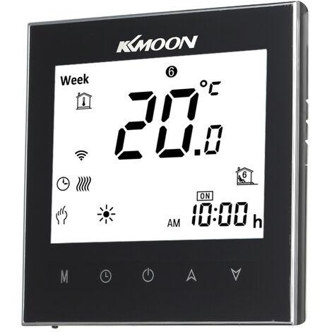 Controleur de thermostat de chaudiere a gaz KKmoon WiFi Voice (serie 1000-WIFI Voice Chaudiere noire)