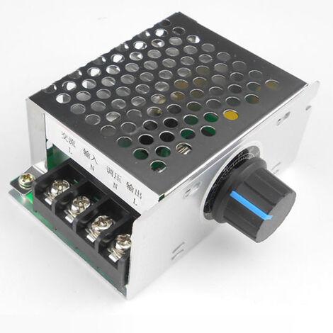 Controleur de vitesse de moteur monophase 220V AC, interrupteur de commande de vitesse de moteur de ventilateur, variateur et regulateur de tension de thyristor de controle de temperature