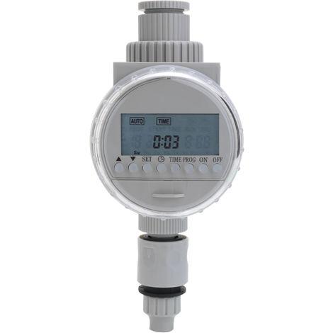 Controleur D'Irrigation Automatique De Jardin Solaire, ecran Lcd, Minuterie Numerique, Blanc