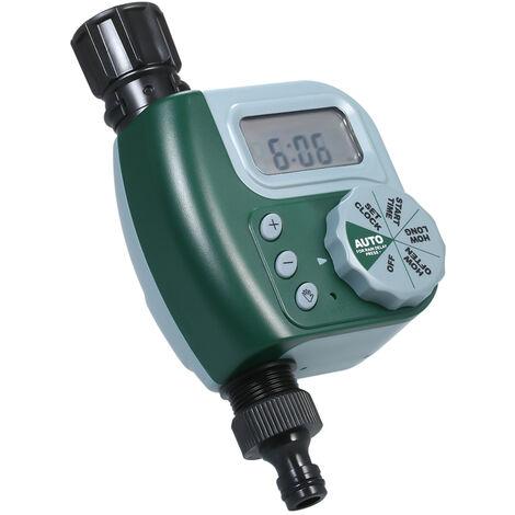 Controleur d'irrigation de jardin exterieur minuterie electrovanne dispositif d'arrosage d'arrosage automatique de jardin sans livraison de batterie connecteur de robinet europeen vert