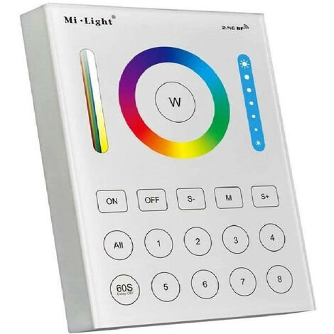 Contrôleur LED RGB+CCT tactile sans fil 8 zones FUTB8