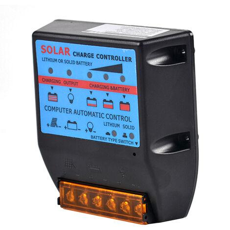 Controleur solaire intelligent dedie pour lampadaire 12V / 24V, controleur de charge de panneau photovoltaique durable et pret a l'emploi, 10A