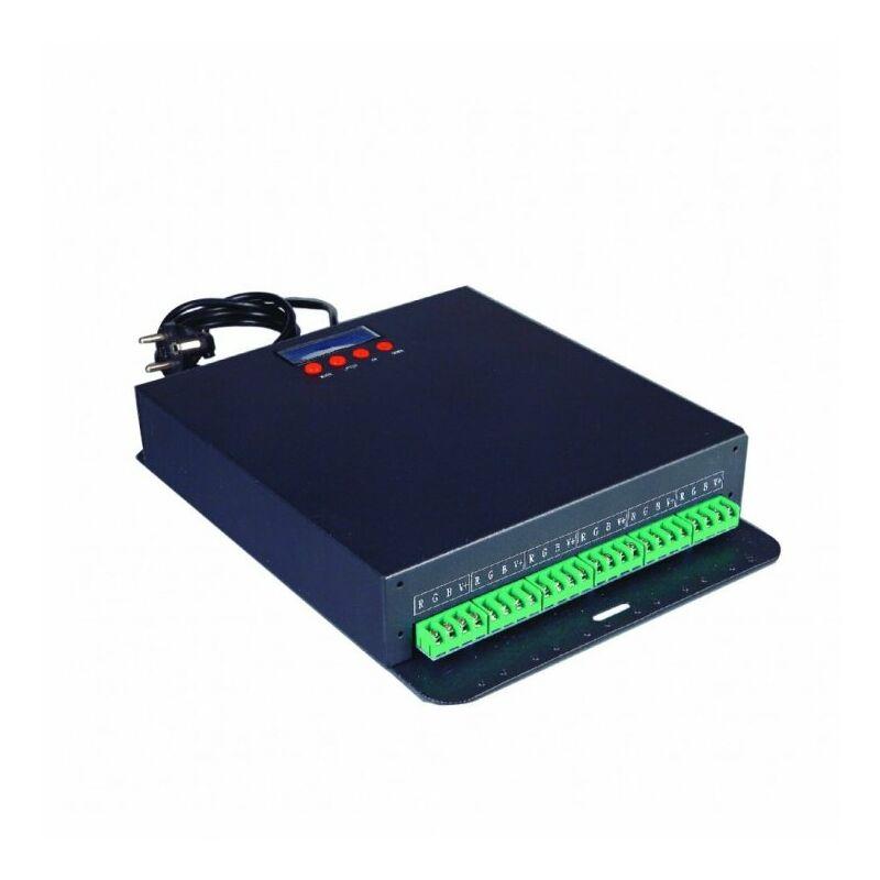 Image of Intec - CONTROLLER LED DMX512 RGB INPUT 230V AC OUTPUT 12V DC 300W 6 CANALI RGB (50W) 33,2X25X5,8CM